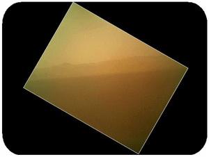 نخستین تصویر رنگی از مریخ كه توسط مريخ نورد كيوريسيتي به زمين مخابره شده است، سایت رسمی مجید اخشابی