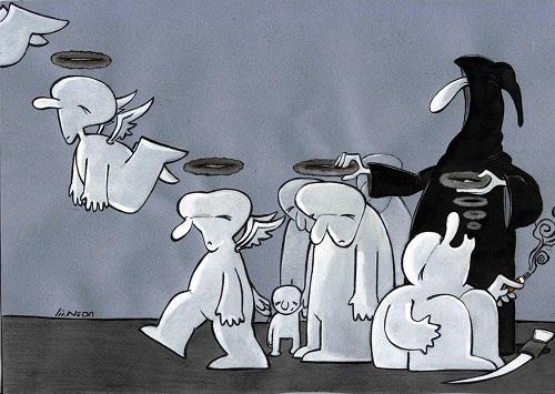 کاریکاتور طنز حلقه مرگ سیگار ندا تنهایی مقدم سایت رسمی مجید اخشابی