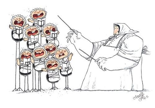 طنز کاریکاتور موسیقی مجید صالحی