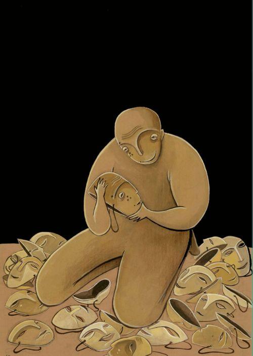 کاریکاتور ندا تنهایی