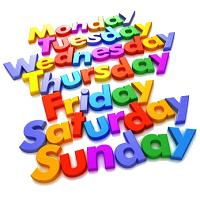 افسانه های مربوط به نامهای روزهای هفته