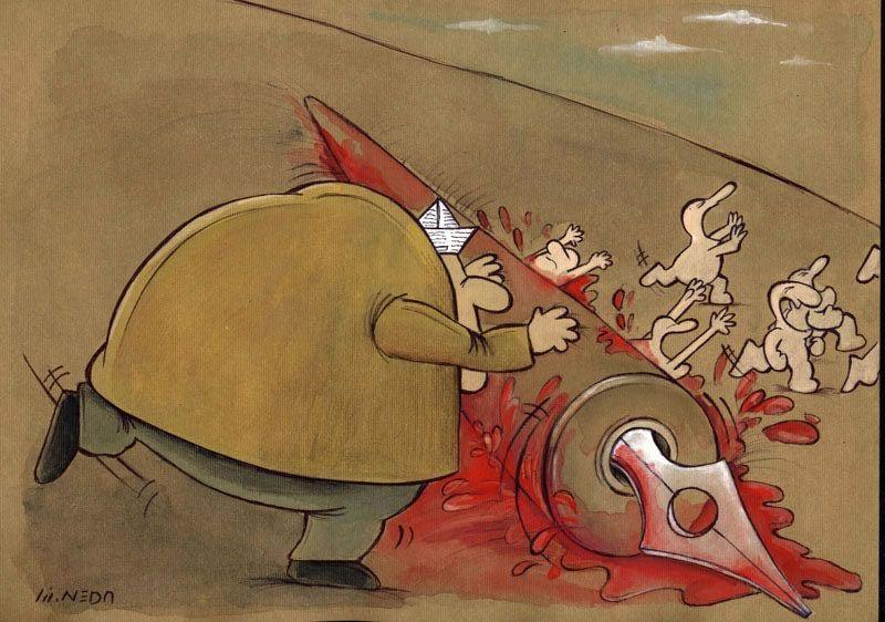 کاریکاتور طنز لطیفه قهقهه خنده تلخند جنگ نرم موسیقی