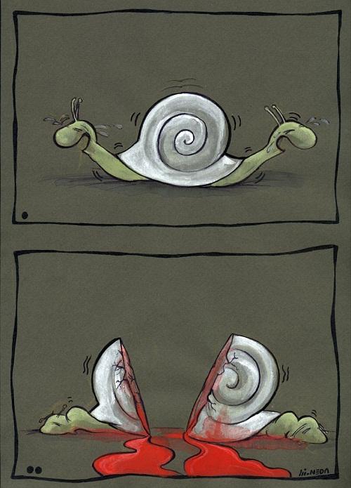 کاریکاتور جدایی ندا تنهایی مقدم