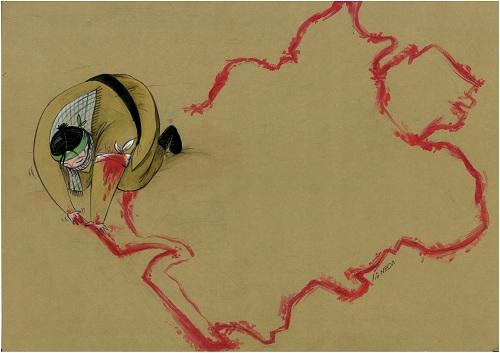 طنز کاریکاتور لبخند تلخند موسیقی میهن پرستی دفاع مقدس ایران لوئیس فرناندس کارلوس برزیل سایت رسمی مجید اخشابی
