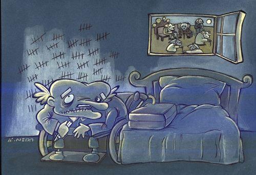 کاریکاتور سالمندان سایت رسمی مجید اخشابی