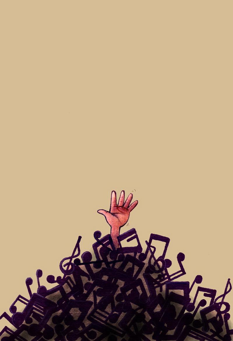 غرق در موسیقی